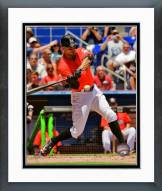 Miami Marlins Giancarlo Stanton 2014 Action Framed Photo