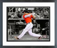 Miami Marlins Giancarlo Stanton 2014 Spotlight Action Framed Photo