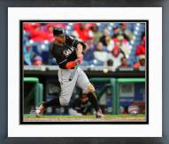 Miami Marlins Giancarlo Stanton 2015 Action Framed Photo