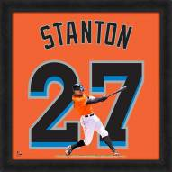 Miami Marlins Giancarlo Stanton MLB Uniframe Framed Jersey Photo