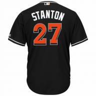 Miami Marlins Giancarlo Stanton Replica Black Alternate Baseball Jersey