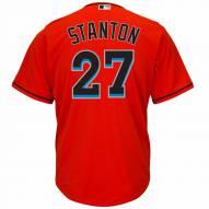 Miami Marlins Giancarlo Stanton Replica Fire Red Alternate Baseball Jersey