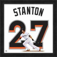 Miami Marlins Giancarlo Stanton Uniframe Framed Jersey Photo