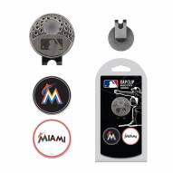 Miami Marlins Hat Clip & Marker Set