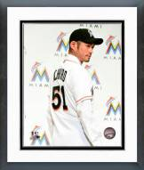 Miami Marlins Ichiro Suzuki 2015 Press Conference Framed Photo
