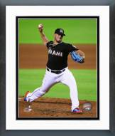 Miami Marlins Jose Fernandez 2015 Action Framed Photo