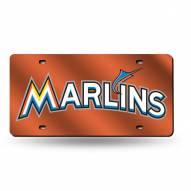 Miami Marlins Laser Cut License Plate