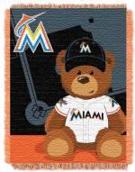Miami Marlins MLB Baby Blanket