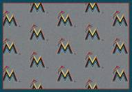 Miami Marlins MLB Repeat Area Rug