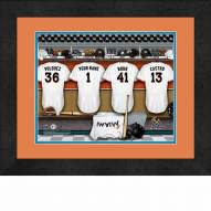Miami Marlins Personalized Locker Room 13 x 16 Framed Photograph