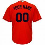 Miami Marlins Personalized Replica Fire Red Alternate Baseball Jersey