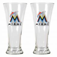 Miami Marlins Premiere Pilsner Glass Set