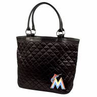 Miami Marlins Quilted Tote Bag