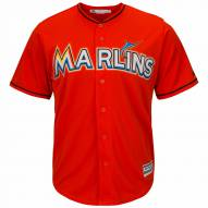 Miami Marlins Replica Firebrick Alternate Baseball Jersey