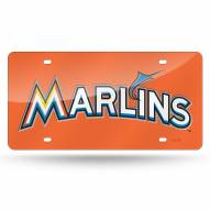 Miami Marlins Laser Cut License Plate