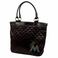 Miami Marlins Sport Noir Quilted Tote
