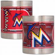 Miami Marlins Stainless Steel Hi-Def Coozie Set