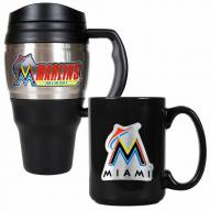 Miami Marlins Travel Mug & Coffee Mug Set