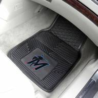 Miami Marlins Vinyl 2-Piece Car Floor Mats