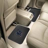 Miami Marlins Vinyl 2-Piece Rear Floor Mats