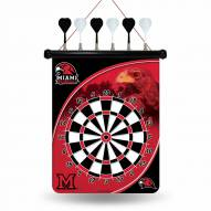 Miami of Ohio Redhawks Magnetic Dart Board