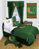 Miami Hurricanes Jersey Comforter & Sheet Complete Bedding Set