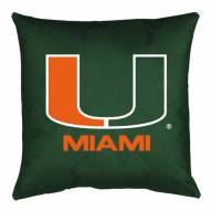 Miami Hurricanes NCAA Locker Room Toss Pillow