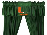 Miami Hurricanes NCAA Jersey Window Valance
