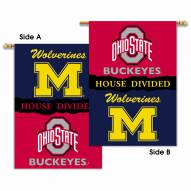 Michigan/Ohio State 2-Sided House Divided Banner