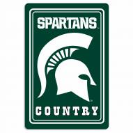 """Michigan State Spartans 12"""" x 18"""" Metal Sign"""