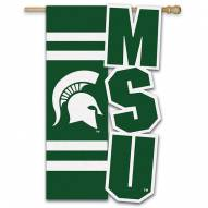 "Michigan State Spartans 28"" x 44"" Applique Flag"