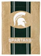 Michigan State Spartans Burlap Garden Flag