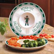 Michigan State Spartans Ceramic Chip and Dip Serving Dish