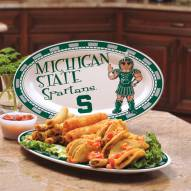 Michigan State Spartans Ceramic Serving Platter