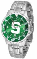 Michigan State Spartans Competitor Steel AnoChrome Color Bezel Men's Watch