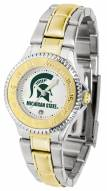 Michigan State Spartans Competitor Two-Tone Women's Watch