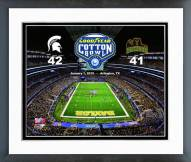 Michigan State Spartans Cotton Bowl Champions Framed Photo