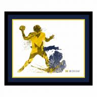Michigan Wolverines Framed Silhouette Art