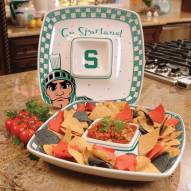 Michigan State Spartans Gameday Chip N Dip Dish