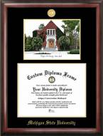 Michigan State Spartans Gold Embossed Diploma Frame with Lithograph