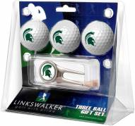 Michigan State Spartans Golf Ball Gift Pack with Cap Tool