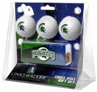 Michigan State Spartans Golf Ball Gift Pack with Slider Clip