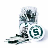 Michigan State Spartans 175 Golf Tee Jar