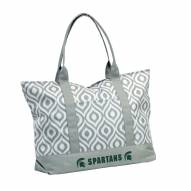 Michigan State Spartans Ikat Tote Bag