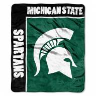 Michigan State Spartans Jersey Mesh Raschel Throw Blanket