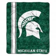Michigan State Spartans Jersey Sherpa Blanket