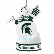 Michigan State Spartans LED Snowman Ornament