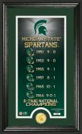 Michigan State Spartans Legacy Bronze Coin Panoramic Photo Mint