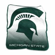 Michigan State Spartans Raschel Throw Blanket