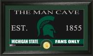 Michigan State Spartans Man Cave Bronze Coin Panoramic Photo Mint